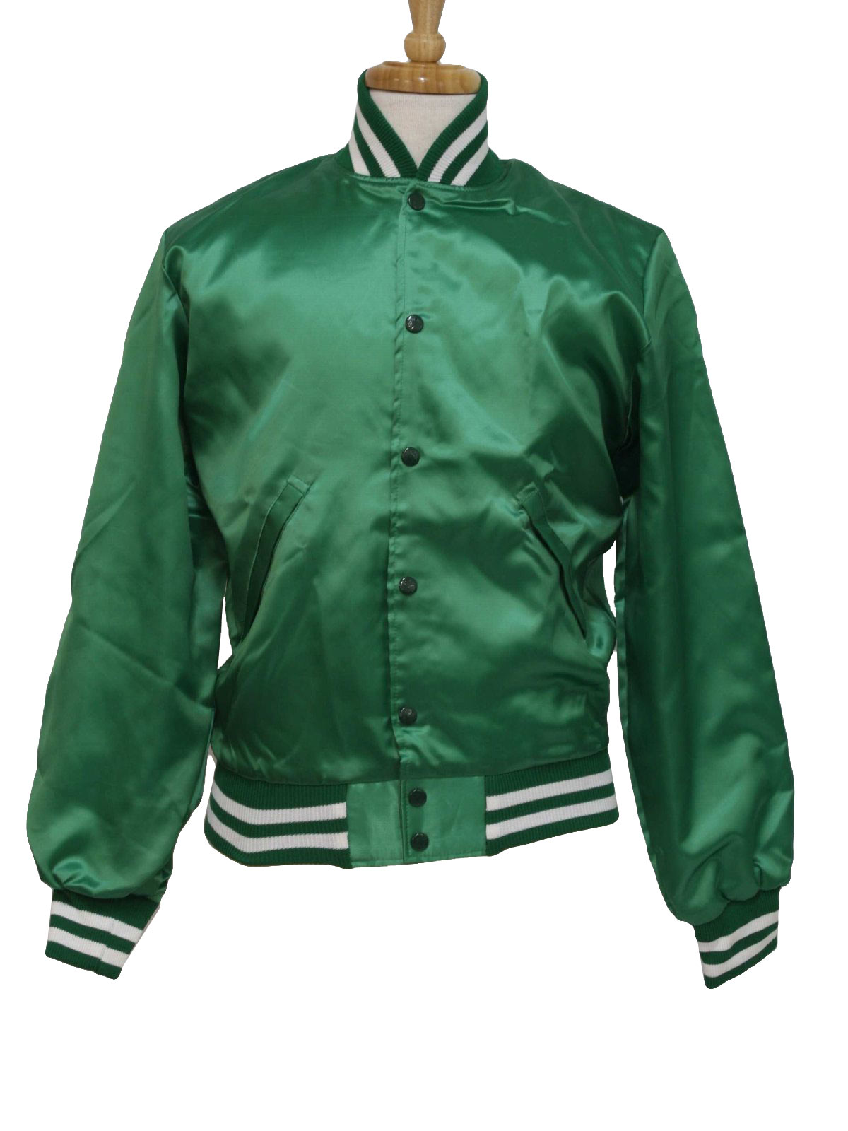 80s Vintage Birdie Jacket: 80s -Birdie- Mens emerald green and ...