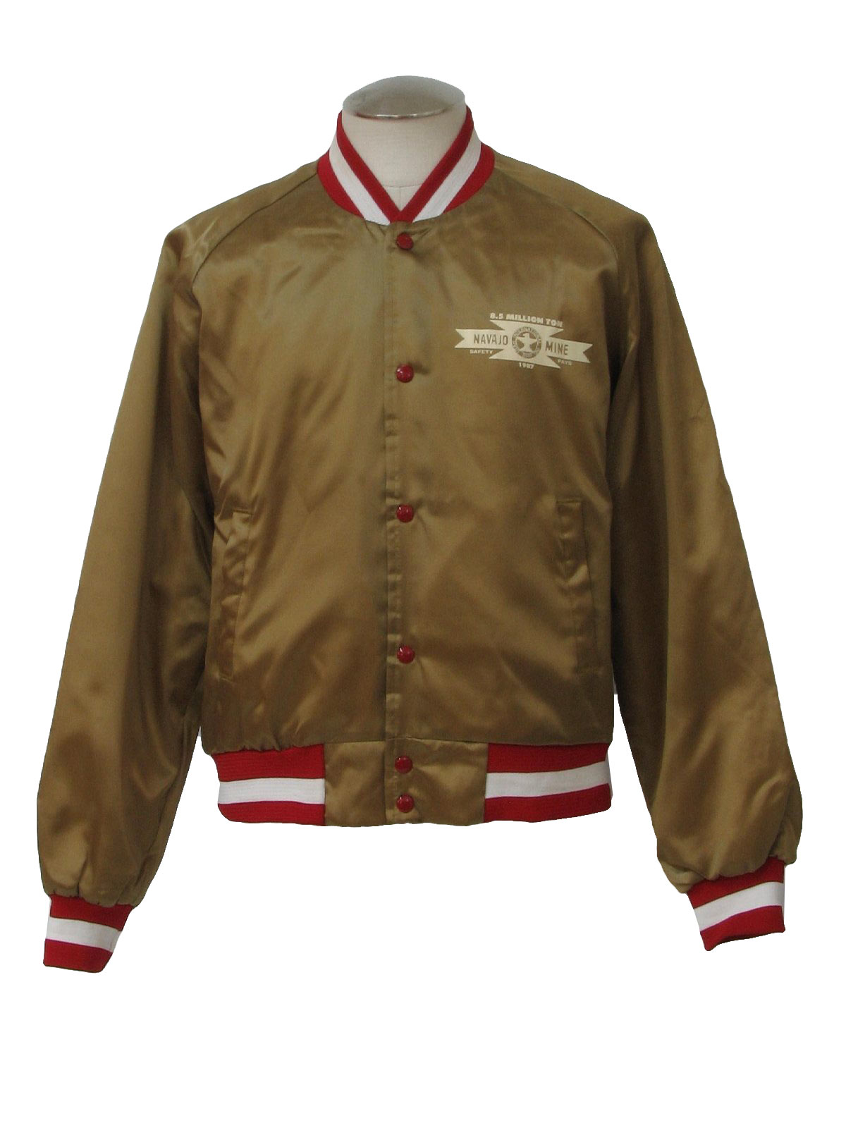 Vintage Chalk Line 80&39s Jacket: 80s -Chalk Line- Mens bronze red