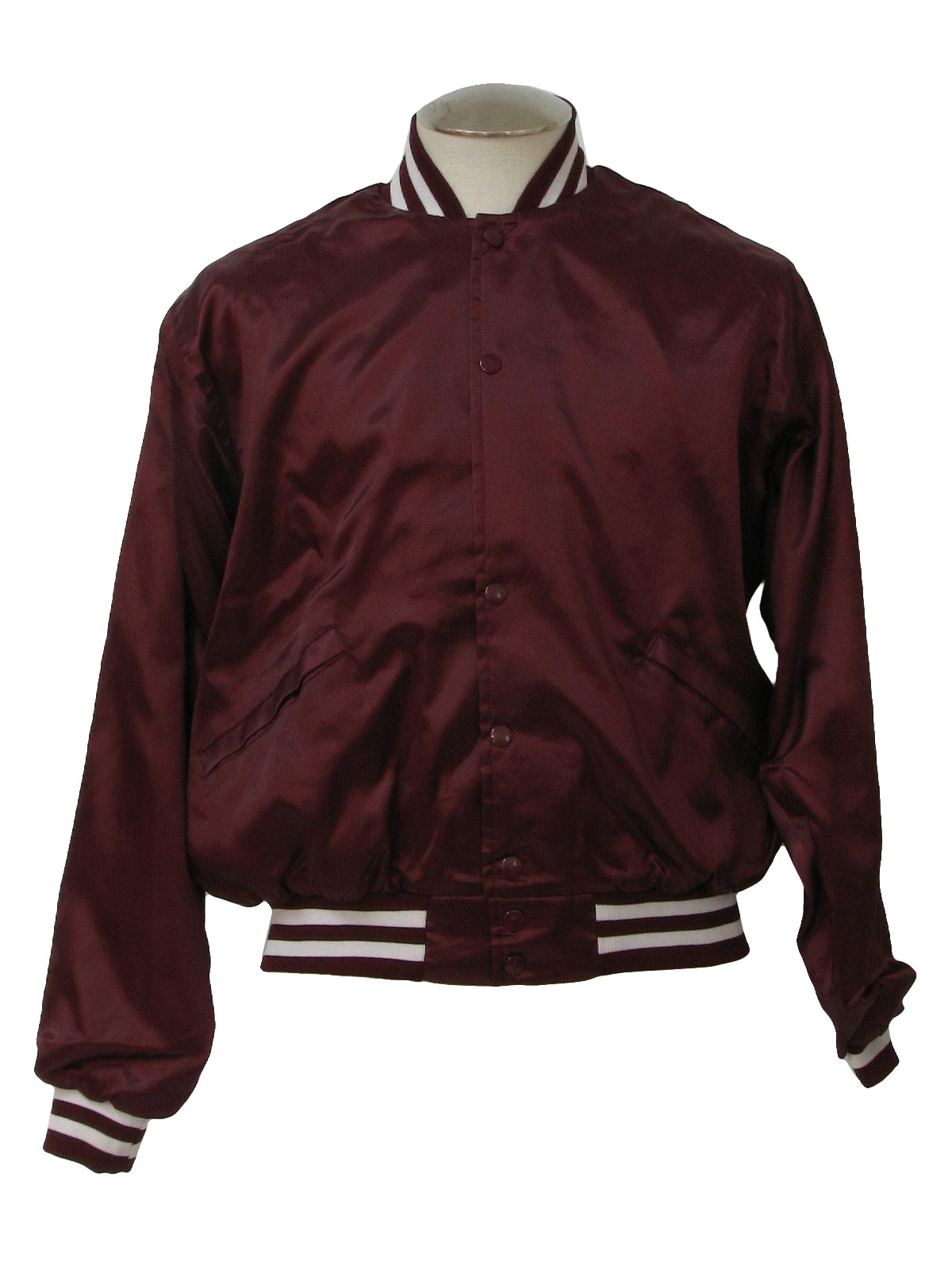1980's Vintage Windless Jacket: 80s -Windless- Mens burgundy and ...