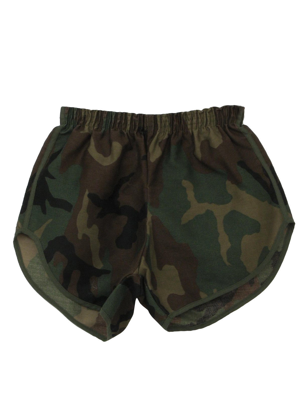 1980's Retro Shorts: 80s -Care Label- Mens shaded green and brown ...