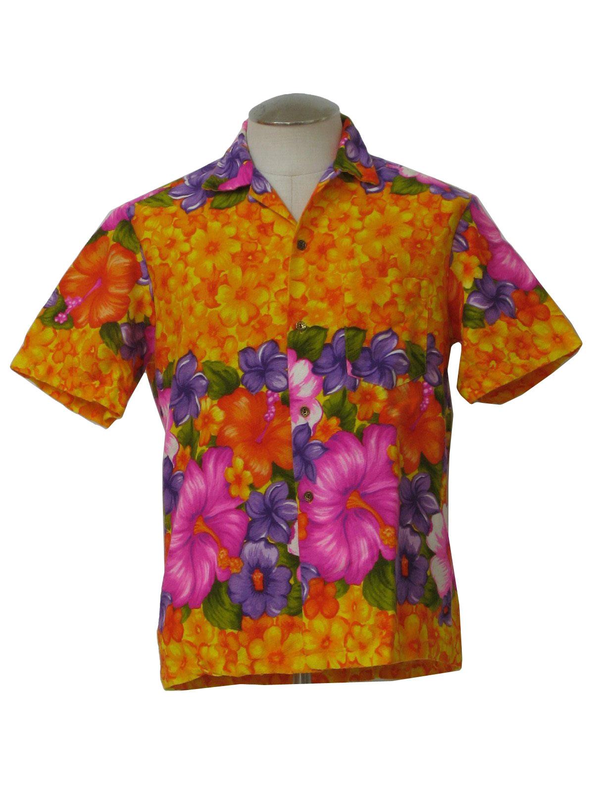 Vintage 1960's Hawaiian Shirt: 60s -Hawaiian Togs- Mens bright ...