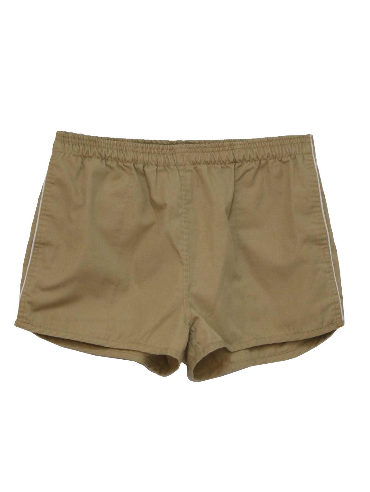 Vintage 1970's Shorts: 70s -Cest Joli- Mens khaki tan ...