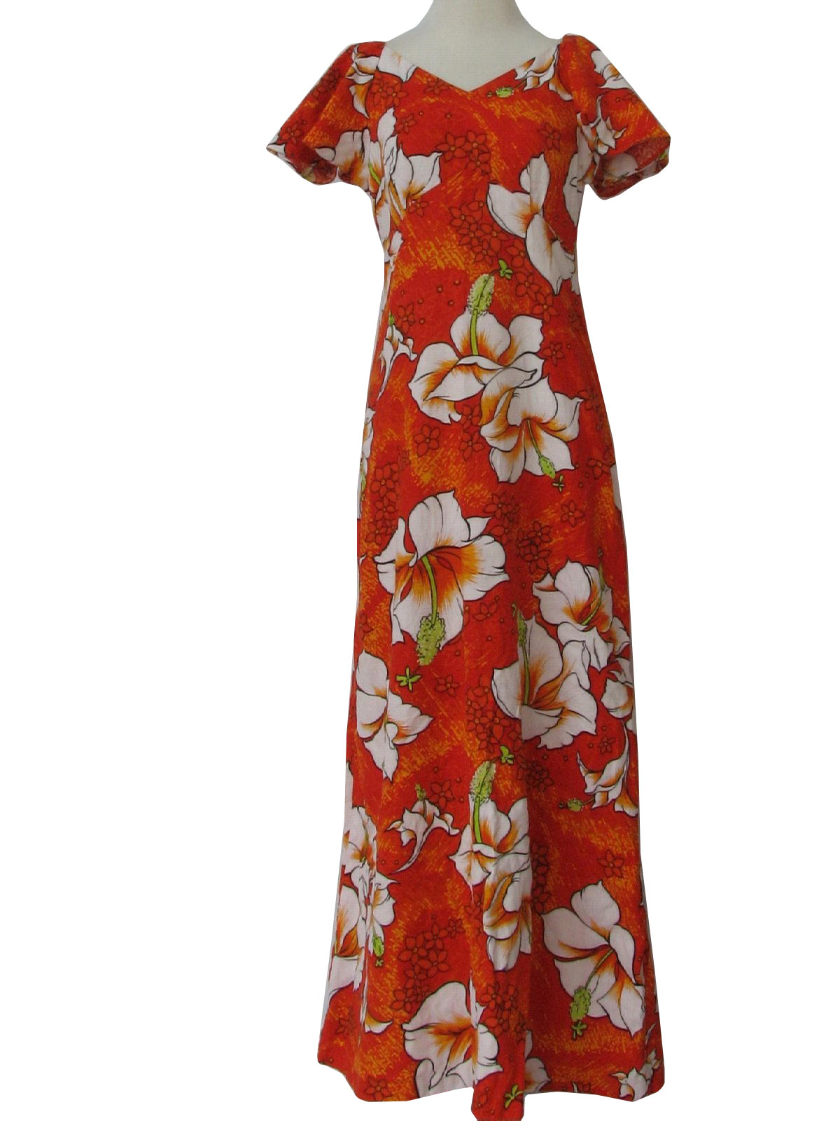 Amazing Hawaiian Print Maxi Dress  All Women Dresses