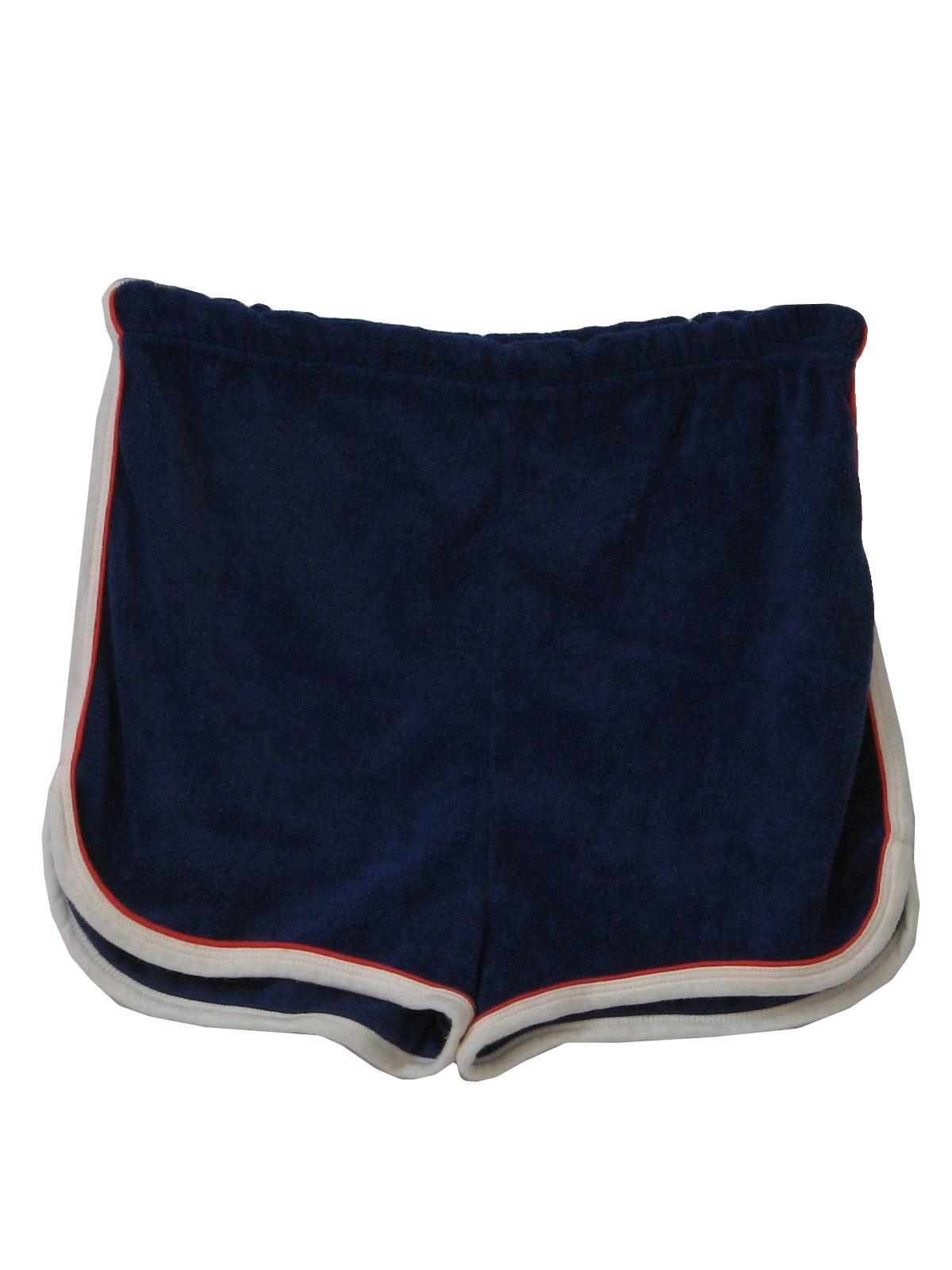 1970 S Retro Shorts 70s Pillow Talk Mens Dark Blue