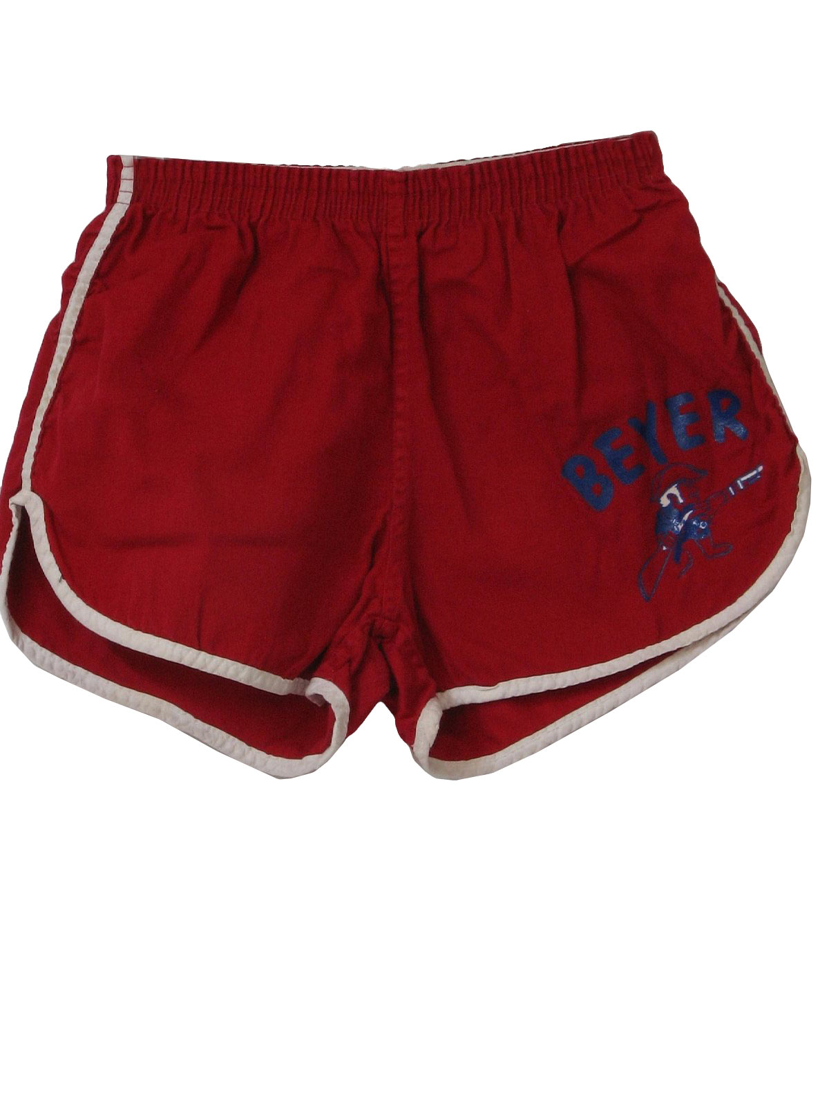 Retro 70s Shorts 70s Champion Mens Red White And Blue