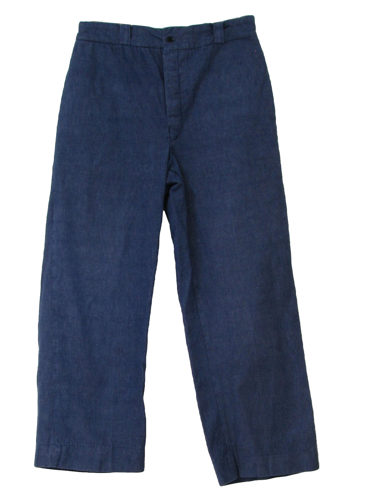 70s Vintage Pants: 70s - no label- Mens medium blue cotton denim ...