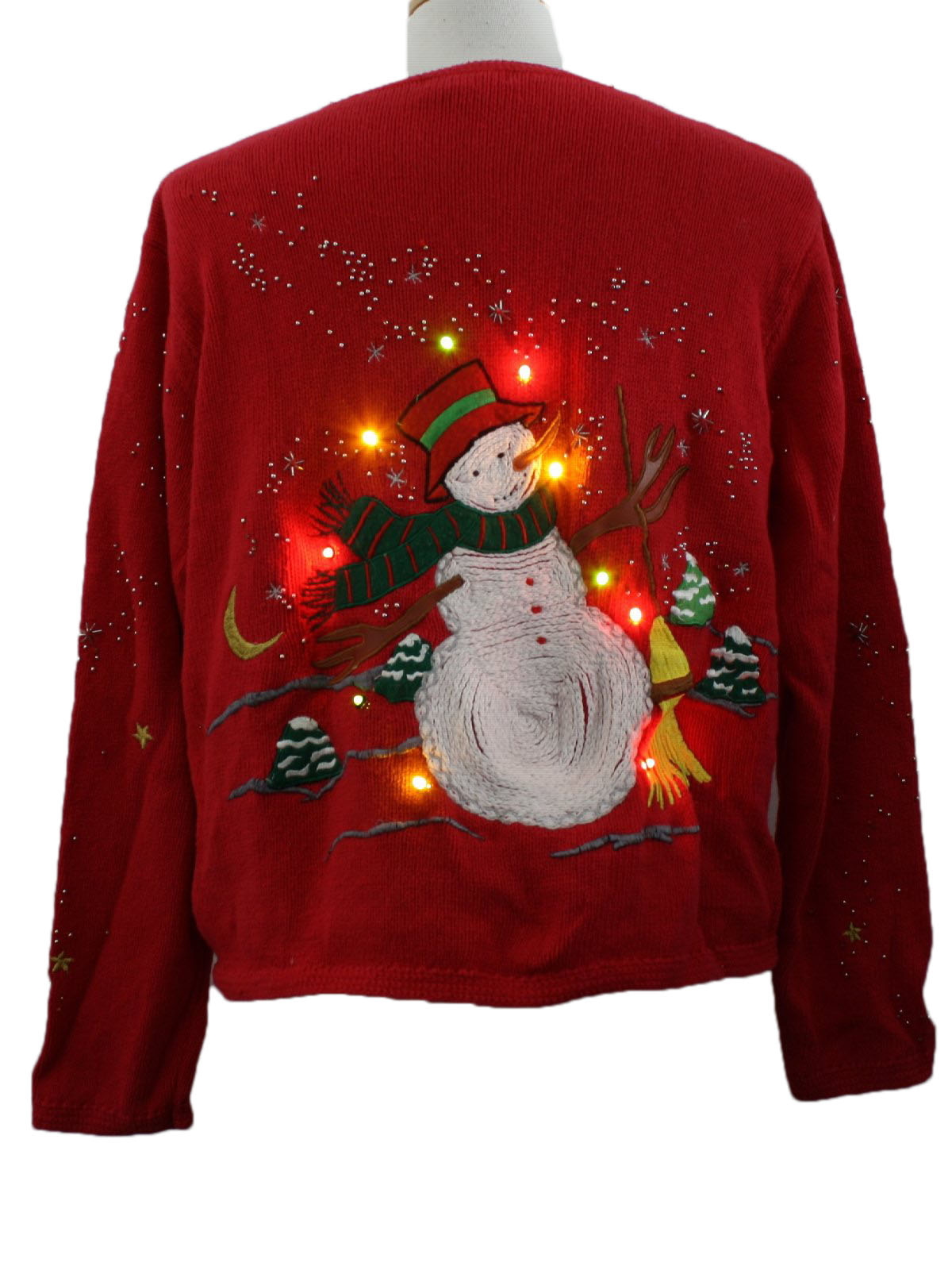 Womens Lightup Ugly Christmas Sweater: -Hampshire Studio- Womens ...