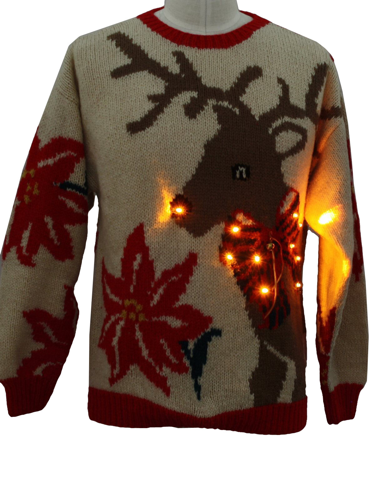 Lightup The Unisex Reindeer Ugly Eagles Sweater Christmas Eye 8xqtrr8n