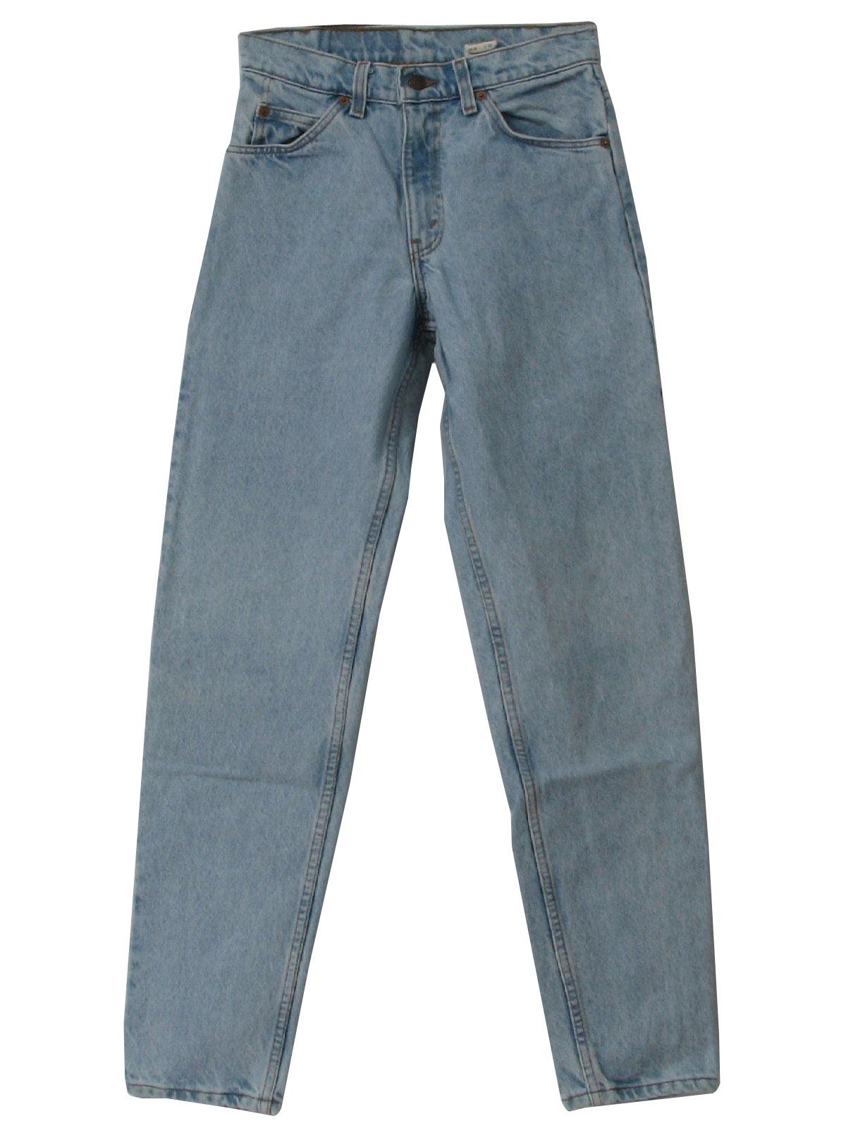 Retro 90u0026#39;s Pants 90s -Levis- Mens blue colored denim cotton tapered leg 550 jeans pants with ...