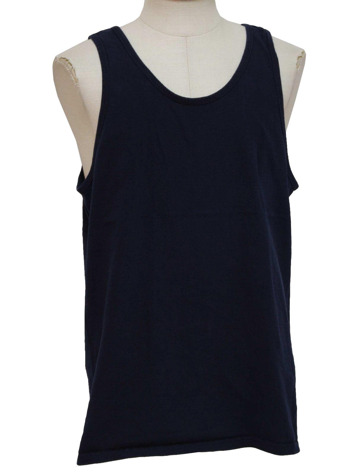 1990s Vintage T Shirt 90s Pluma Mens Dark Blue Thick