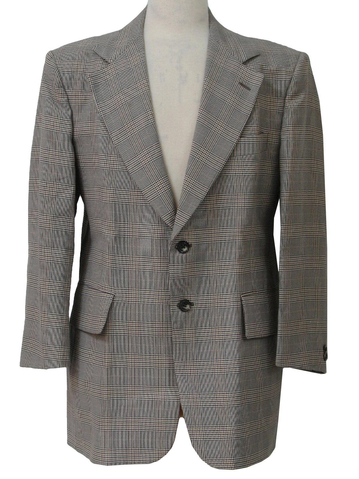 Mens black and white sport coat