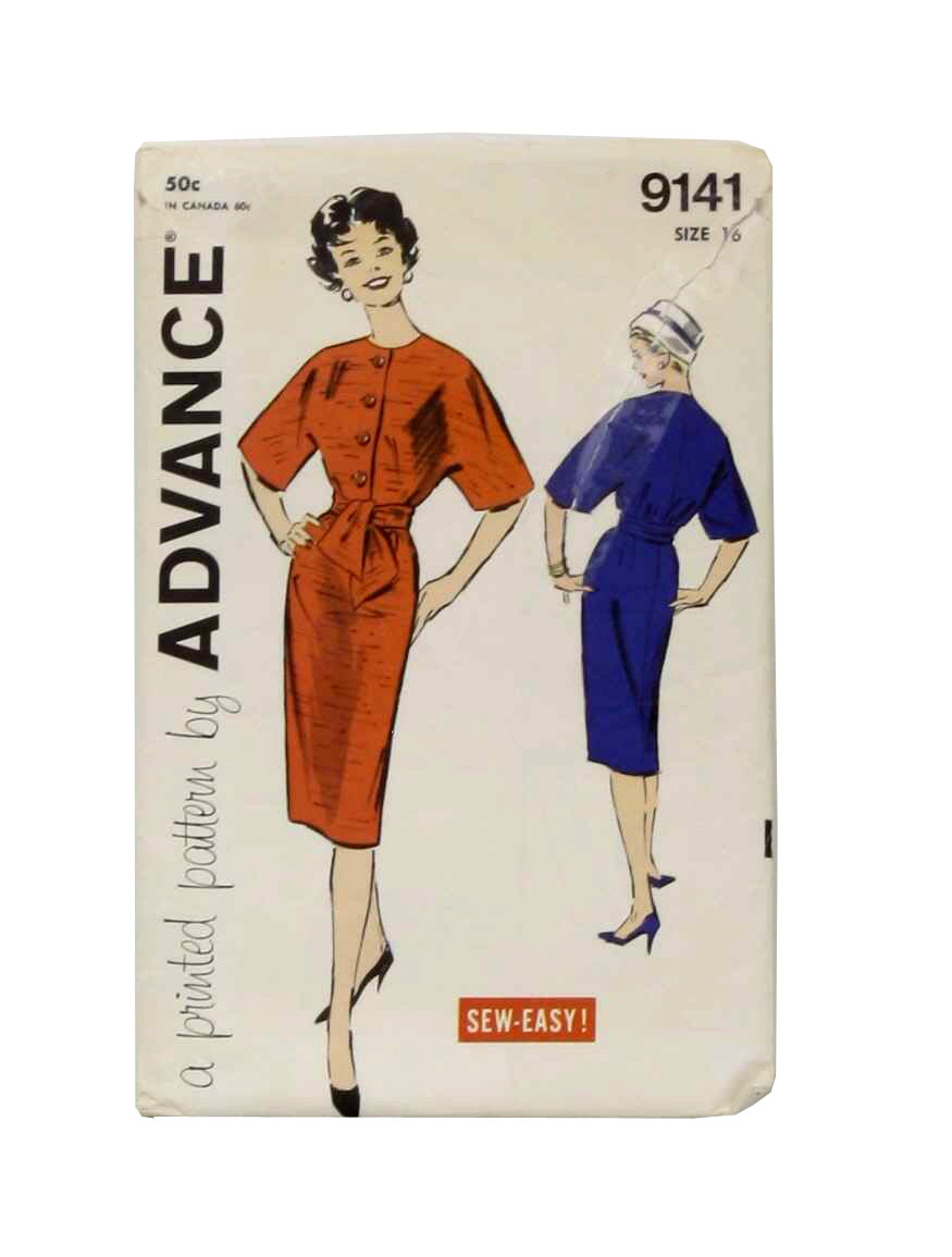 Vintage Advance Pattern No. 8706 Forties Sewing Pattern
