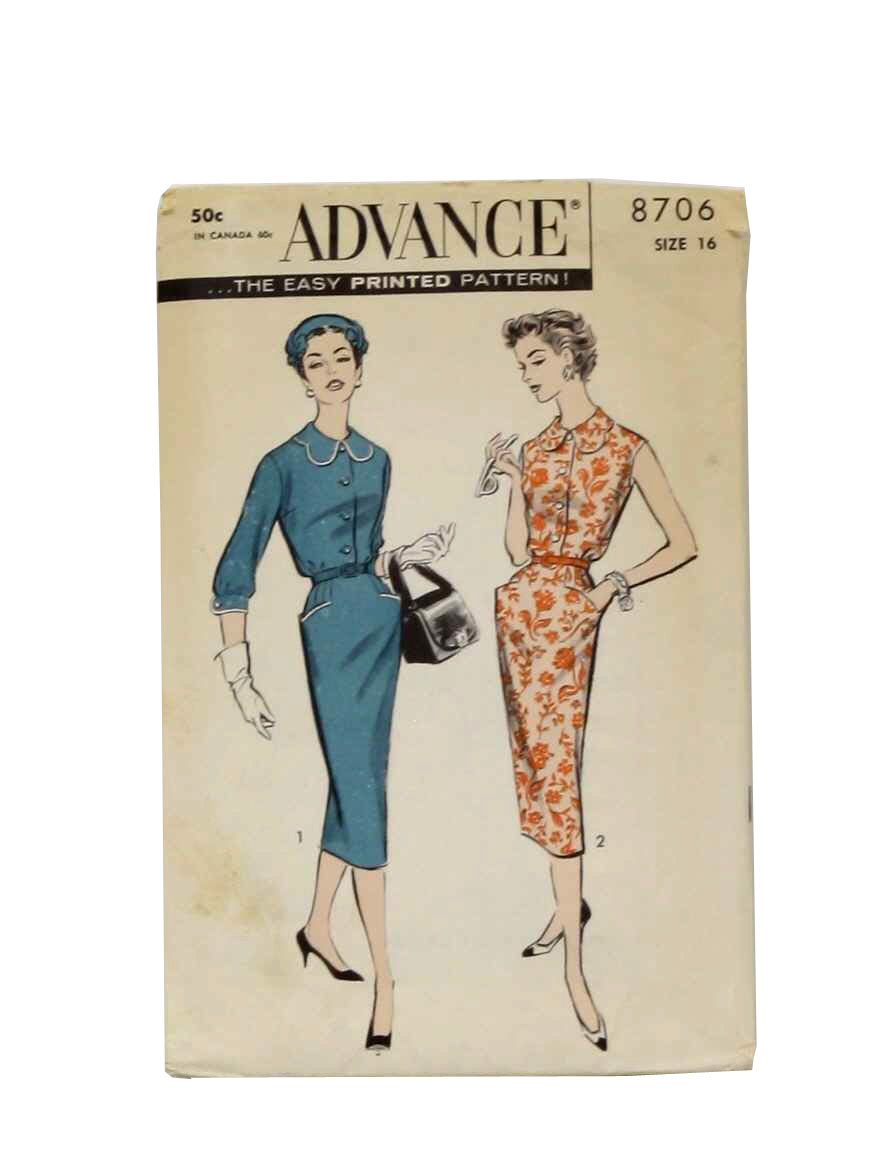 Advance 9350 1950s Vintage Sewing Pattern Fit & Flare