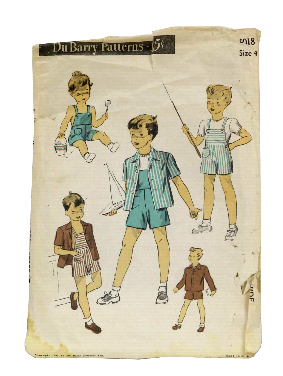 Vintage 1940\'s Sewing Pattern: 40s -DuBarry Pattern No. 6018- Mens ...