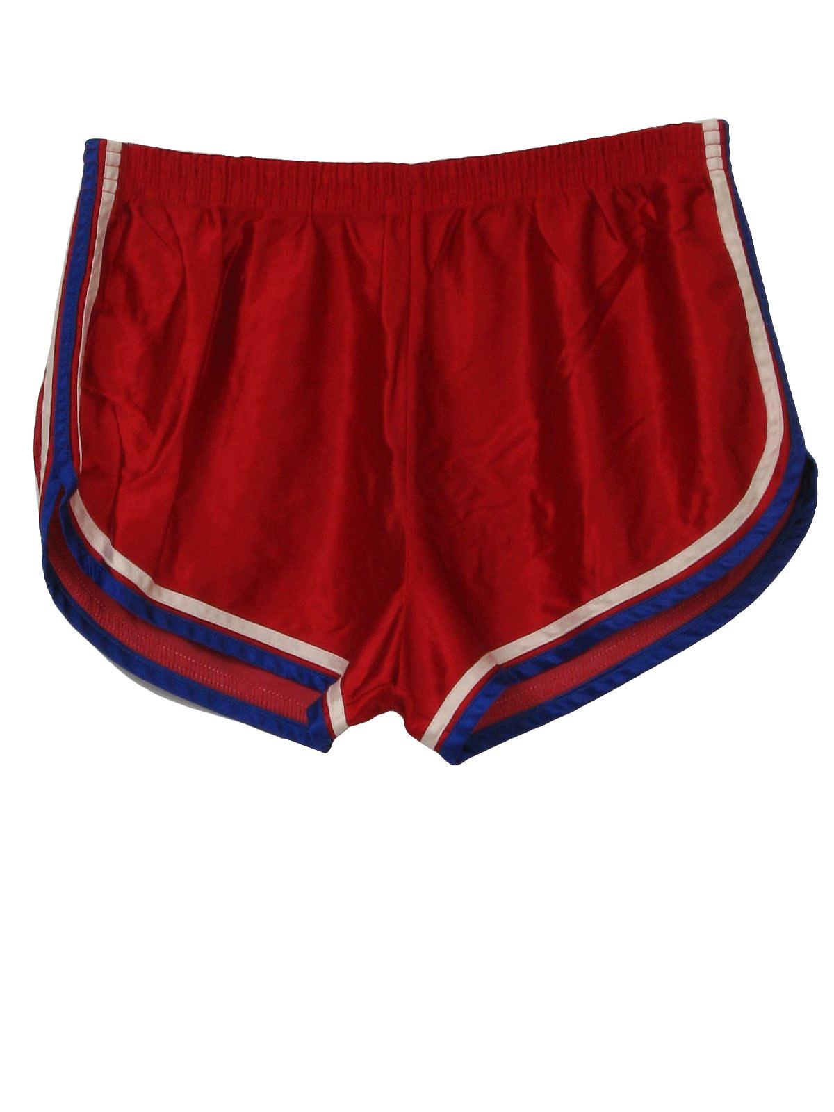 Care Label 80 S Vintage Shorts 80s Care Label Mens Red