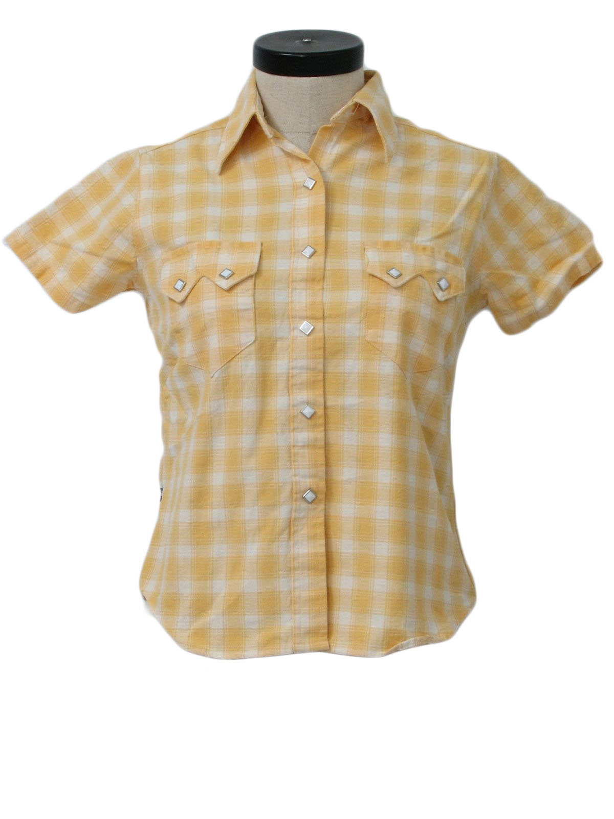 Womens Yellow Plaid Shirt