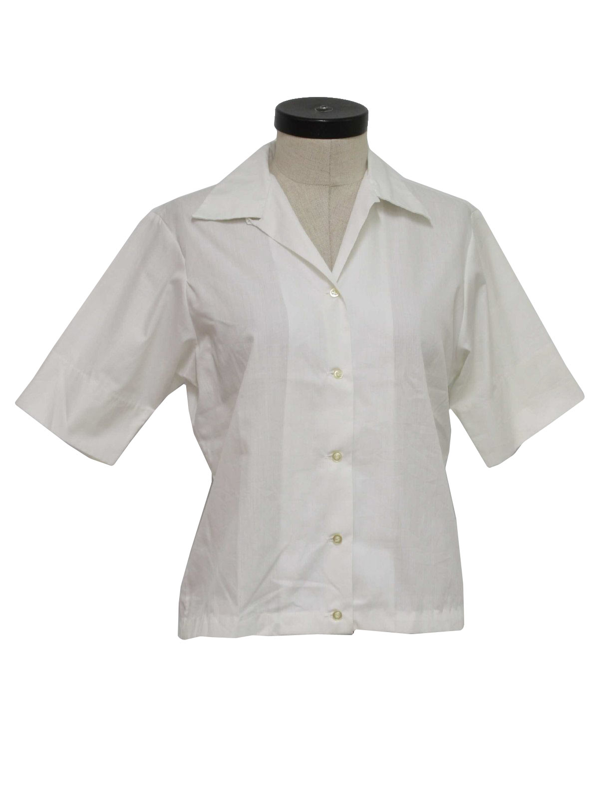 Vintage dorette 60 39 s shirt 60s dorette womens crisp for Crisp white cotton shirt