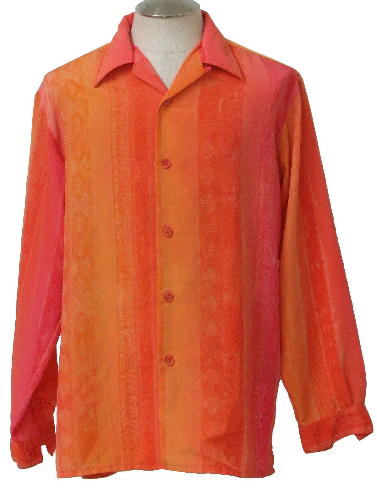 Retro 1990's Shirt (Pronti) : 90s -Pronti- Mens shaded orange ...