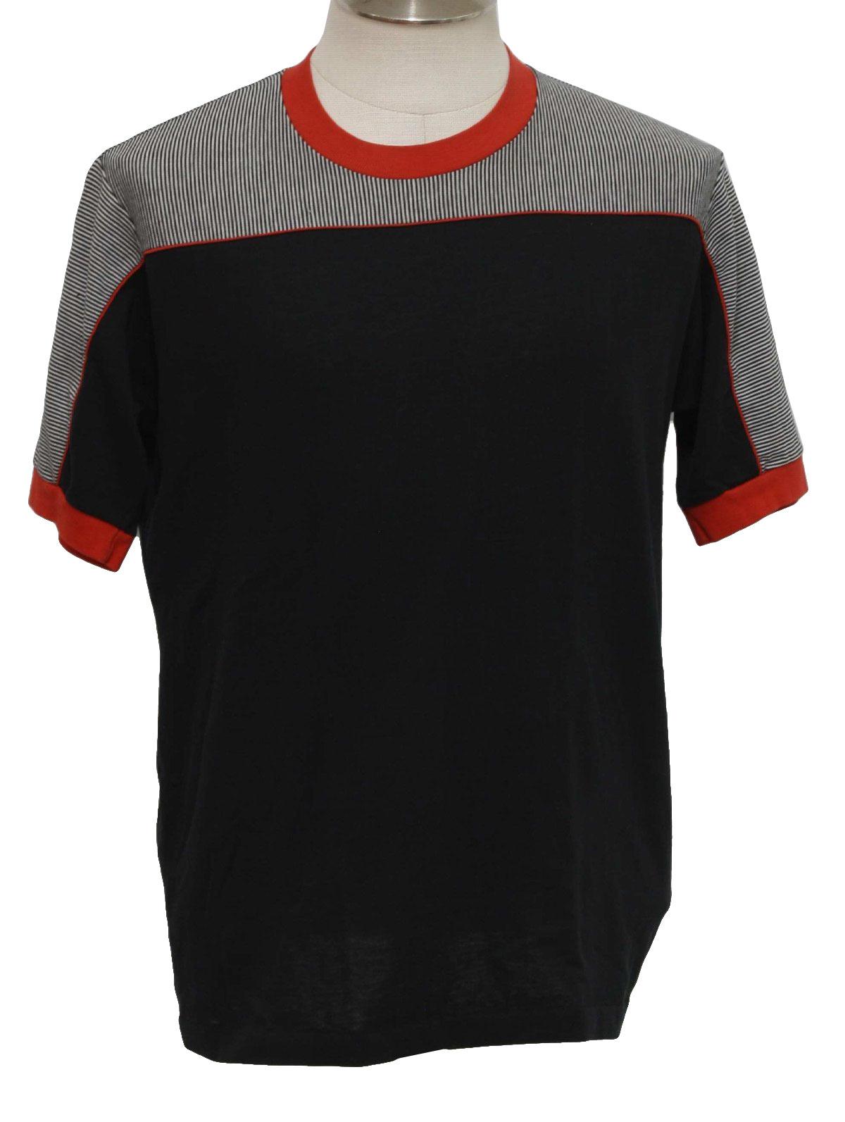 Retro eighties t shirt 80s jockey mens black white and for Jockey full sleeve t shirts india