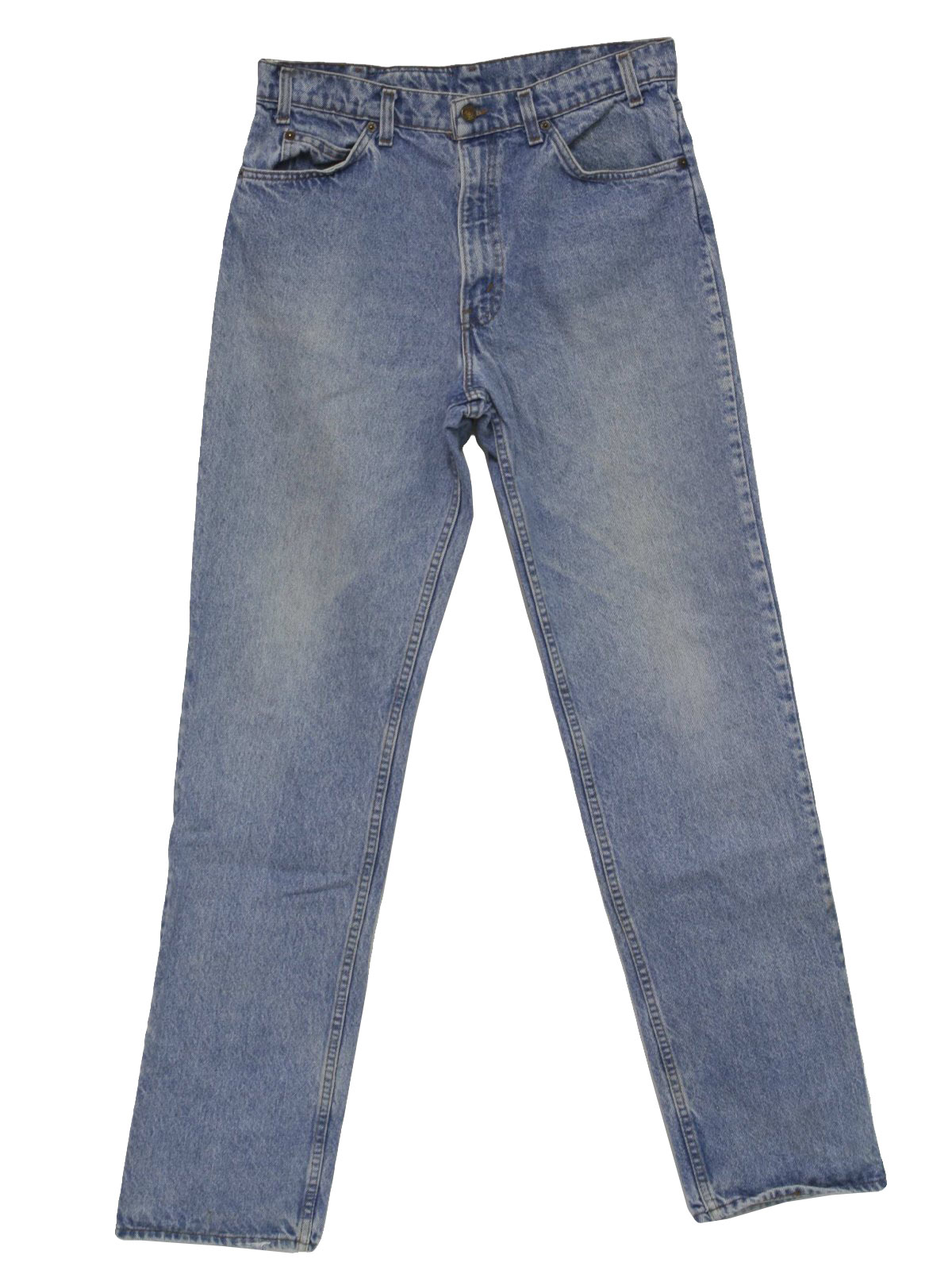 71a83eb704e 1990's Retro Pants: 90s -Levis 540- Mens faded light blue denim ...