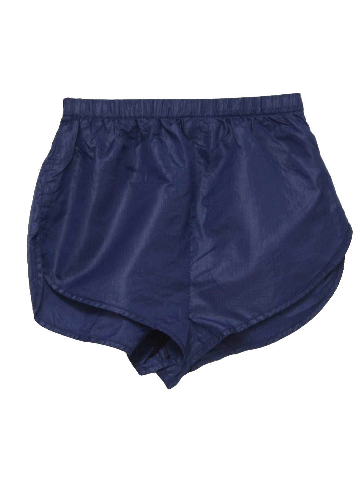 1990s Vintage Shorts: 90s -Body Wrappers- Womens navy blue nylon ...
