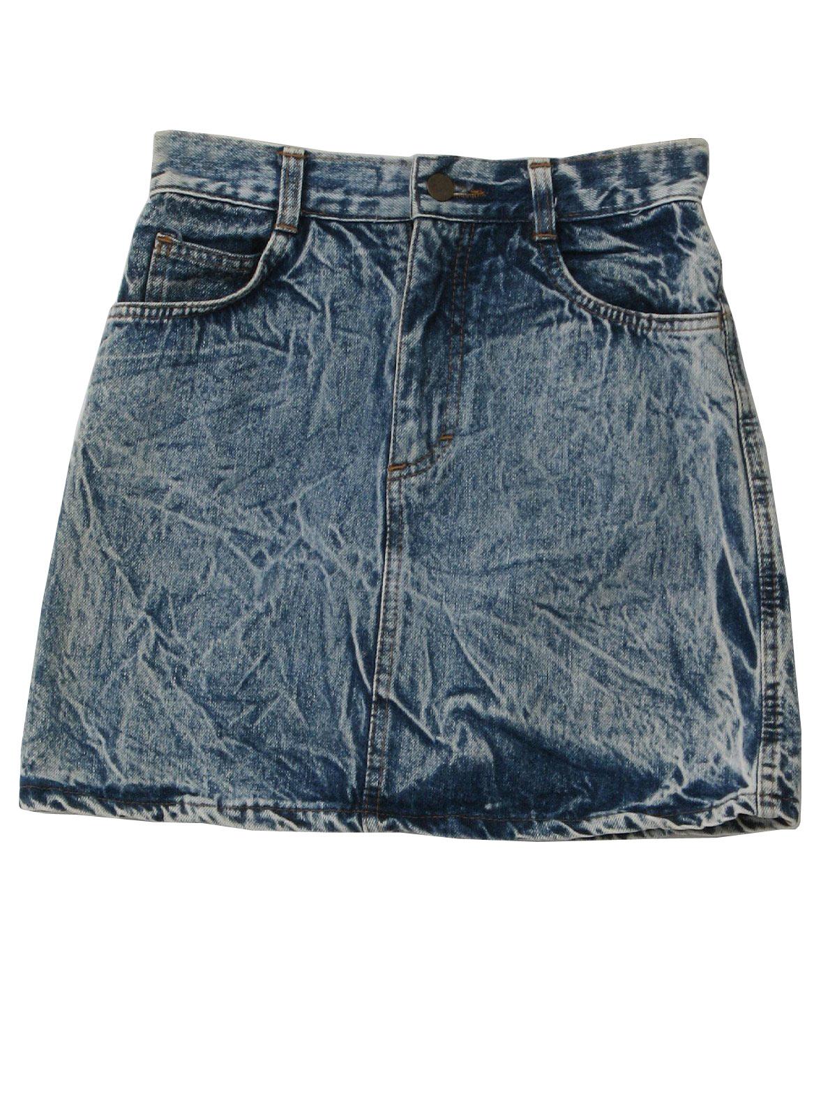 Retro 80s Mini Skirt Street Worn 80s Street Worn