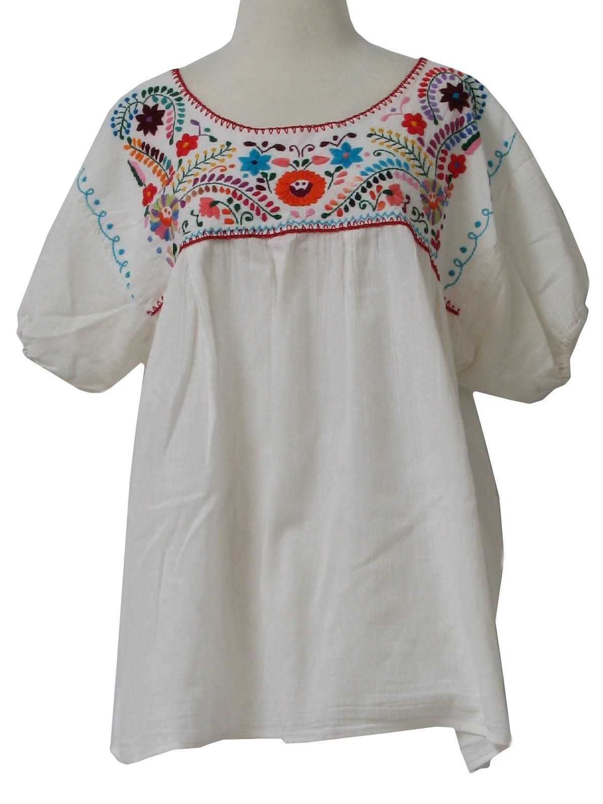 688fa827fd9 Retro 70s Hippie Shirt (Mexican Blouse)   70s -Mexican Blouse ...