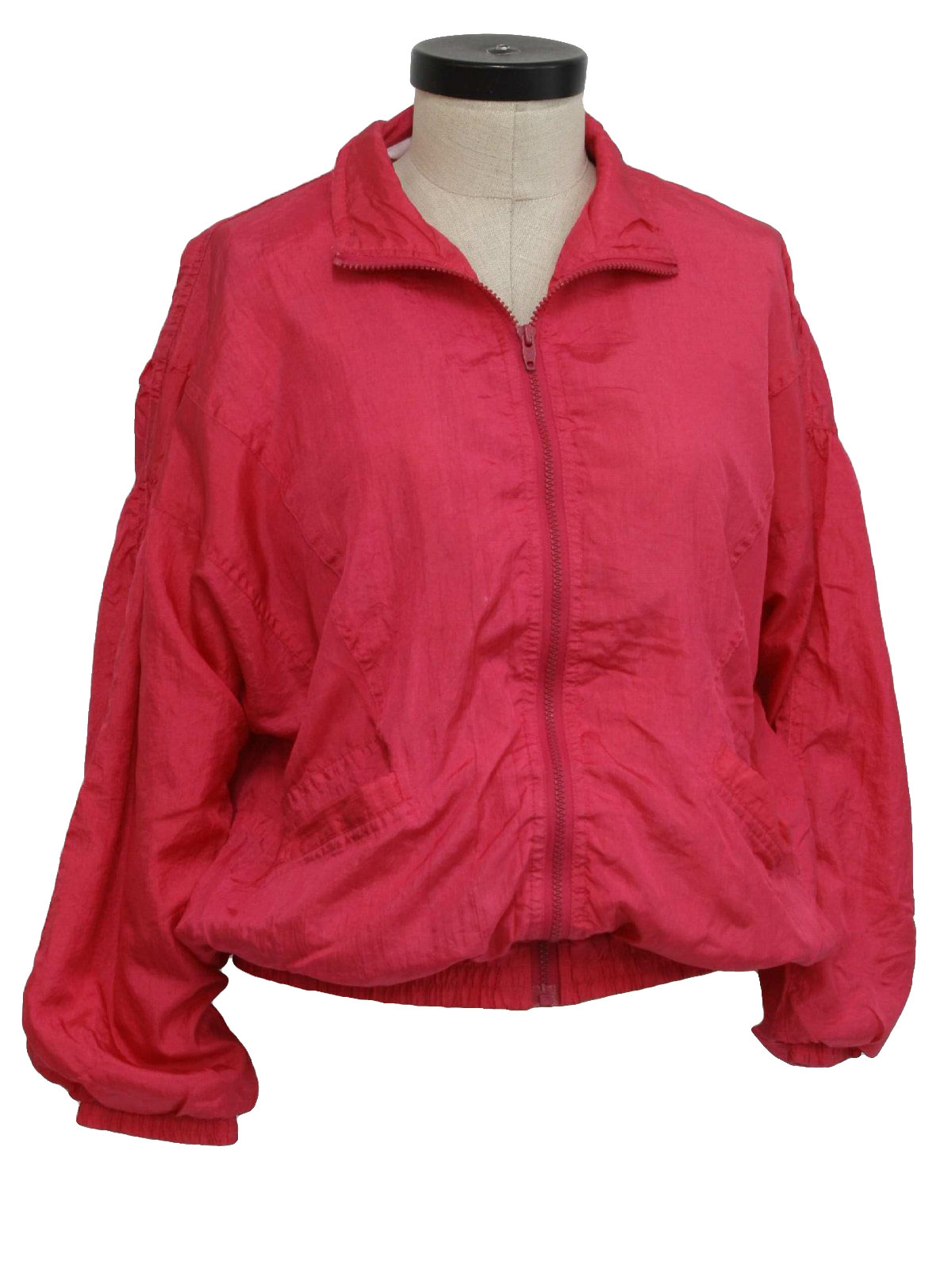 80s Jacket (Avait): 80s -Avait- Womens hot pink polyester and ...