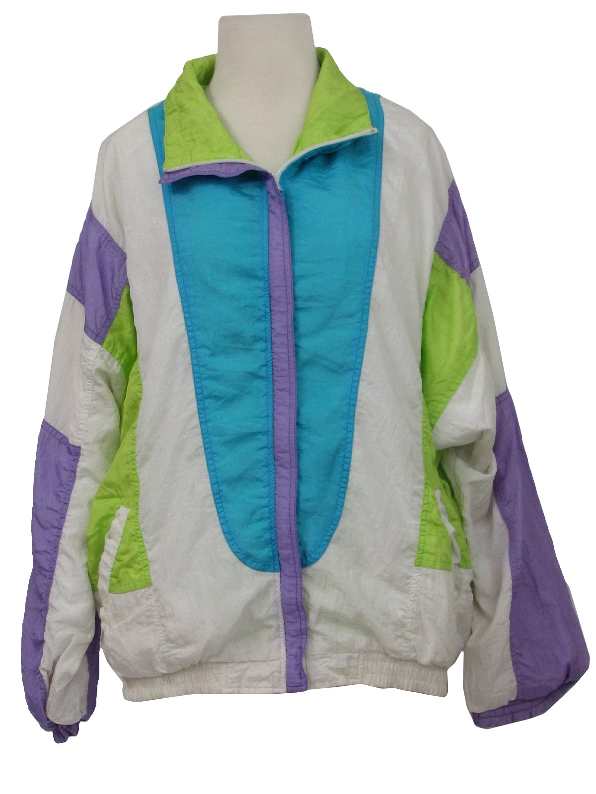 80's Bocoo Jacket: 80s -Bocoo- Womens light blue, neon ...