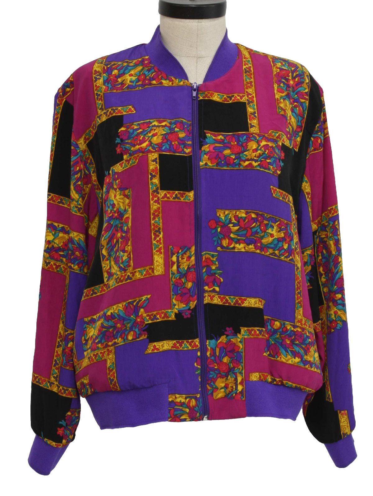 Vintage 1990's Jacket: 90s -Teddi- Womens violet, pink, black ...