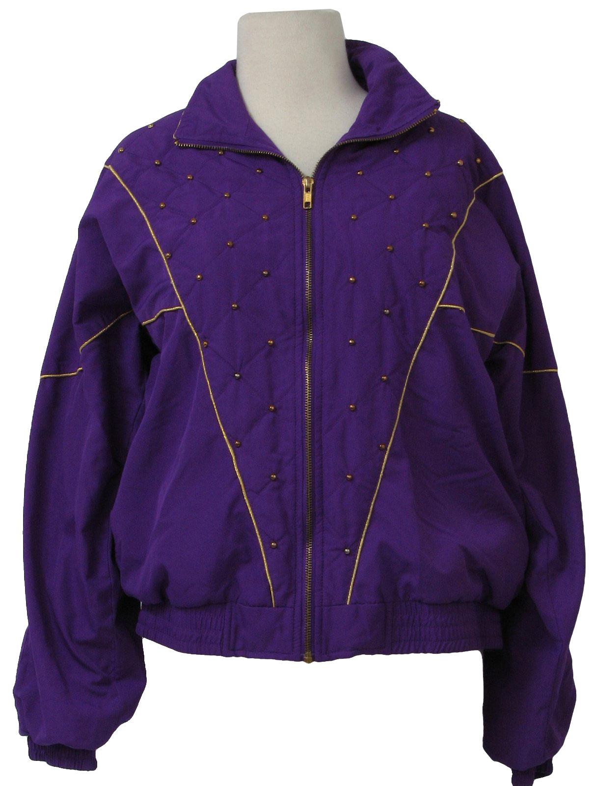 Nineties Vintage Jacket: 90s -Blair Boutiques- Womens purple