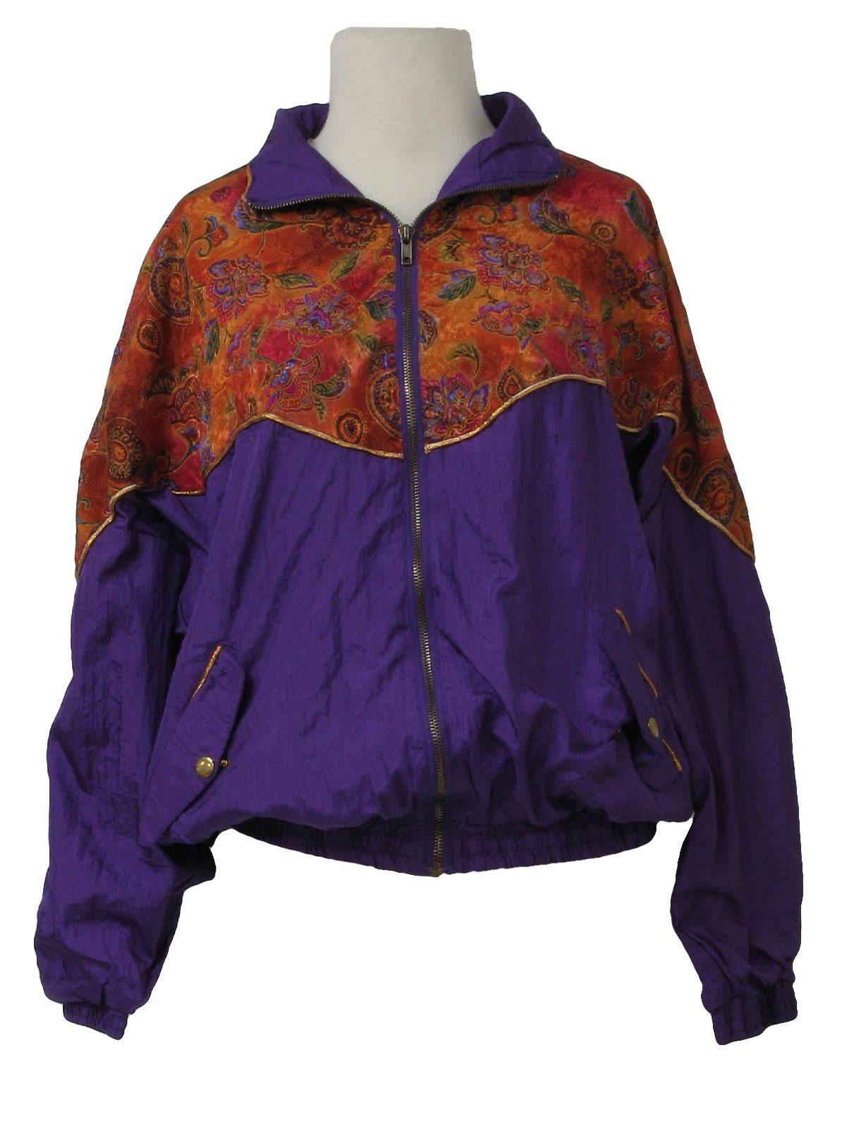 Avait 1990s Vintage Jacket: 90s -Avait- Womens purple, peachy tan ...