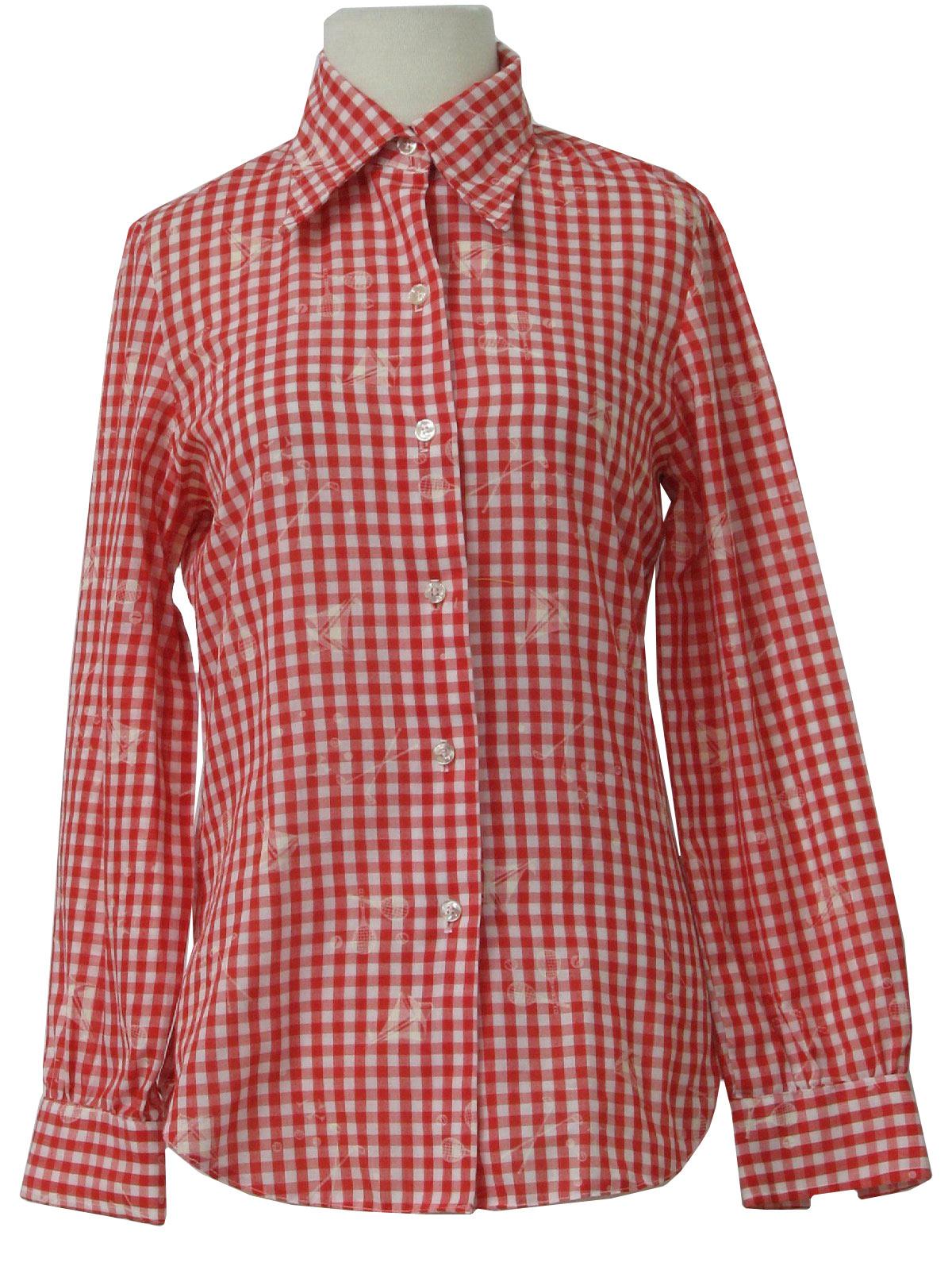 48a202958f7 1960's KayMaker Womens Sailing Shirt