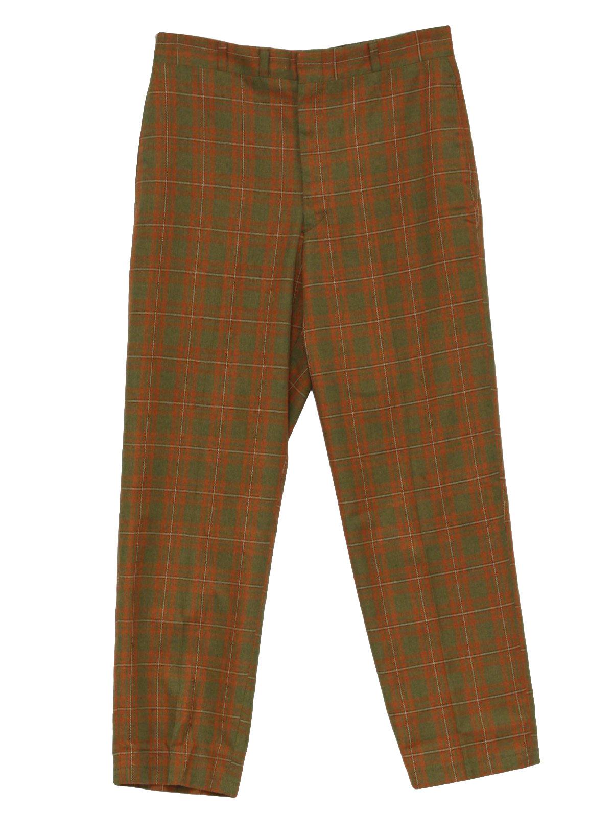 Retro Sixties Pants: 60s -Haggar- Mens green, tan, black and dark ...
