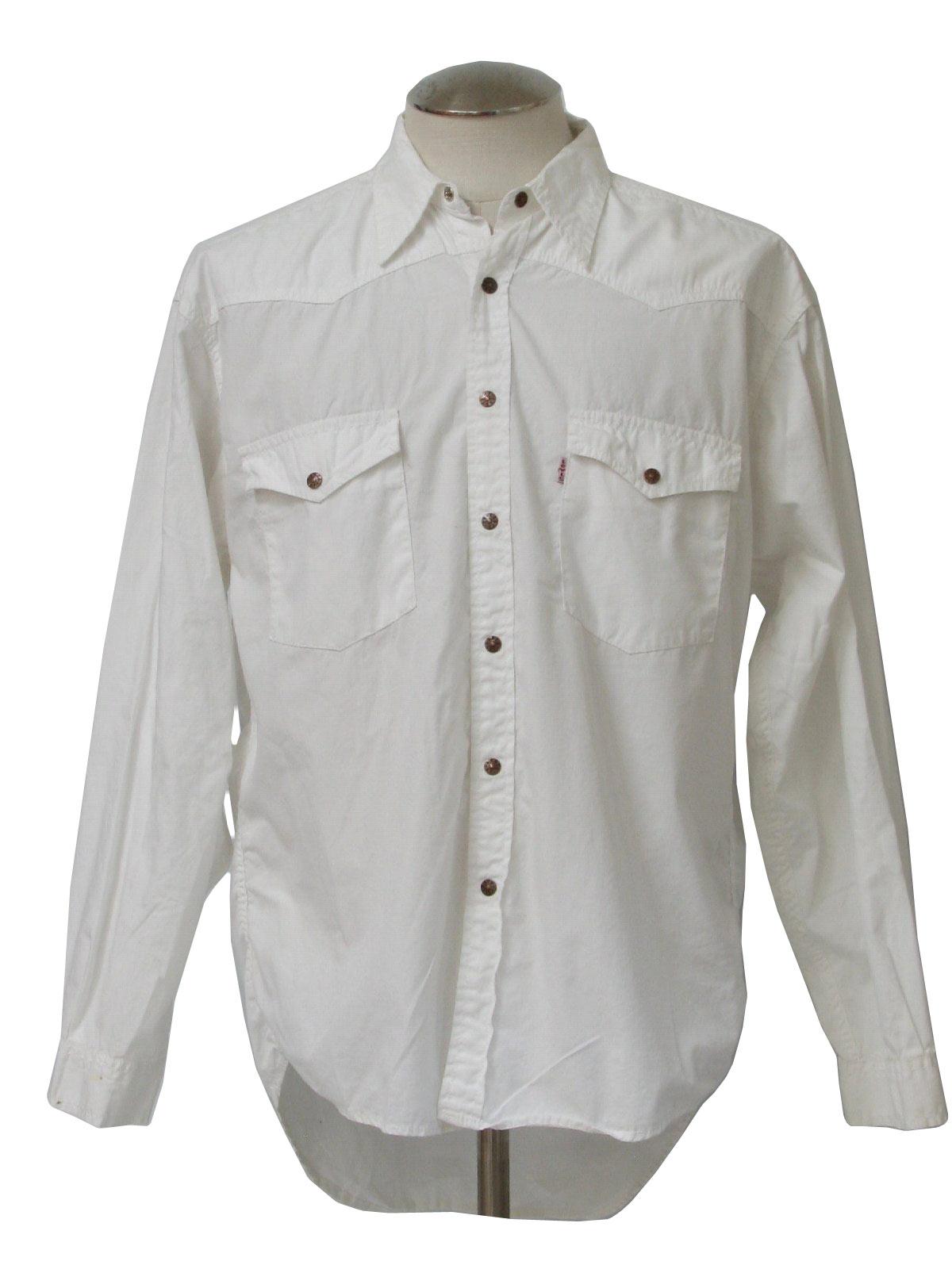 1990's Vintage Levis Western Shirt: 90s -Levis- Mens white ... | 1200 x 1600 jpeg 141kB