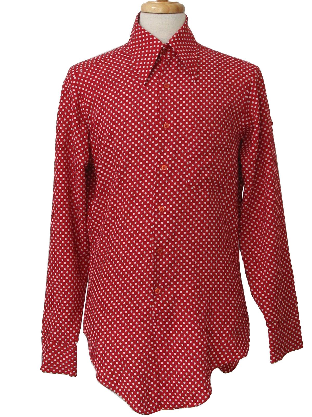 Mens red polka dot shirt greek t shirts for White red polka dot shirt