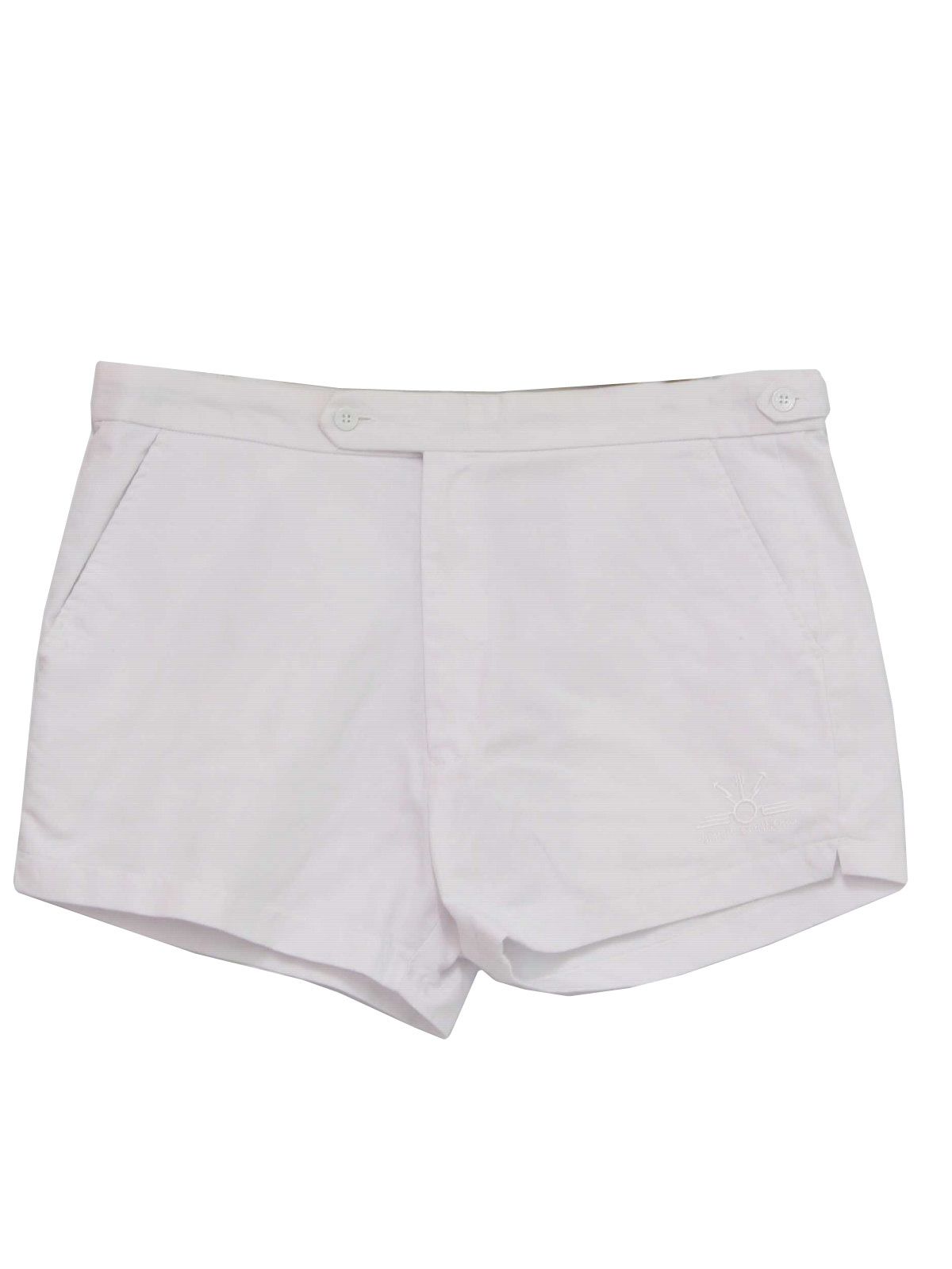 1980s Vintage Shorts: 80s -Jimmy Connors- Mens white polyester ...