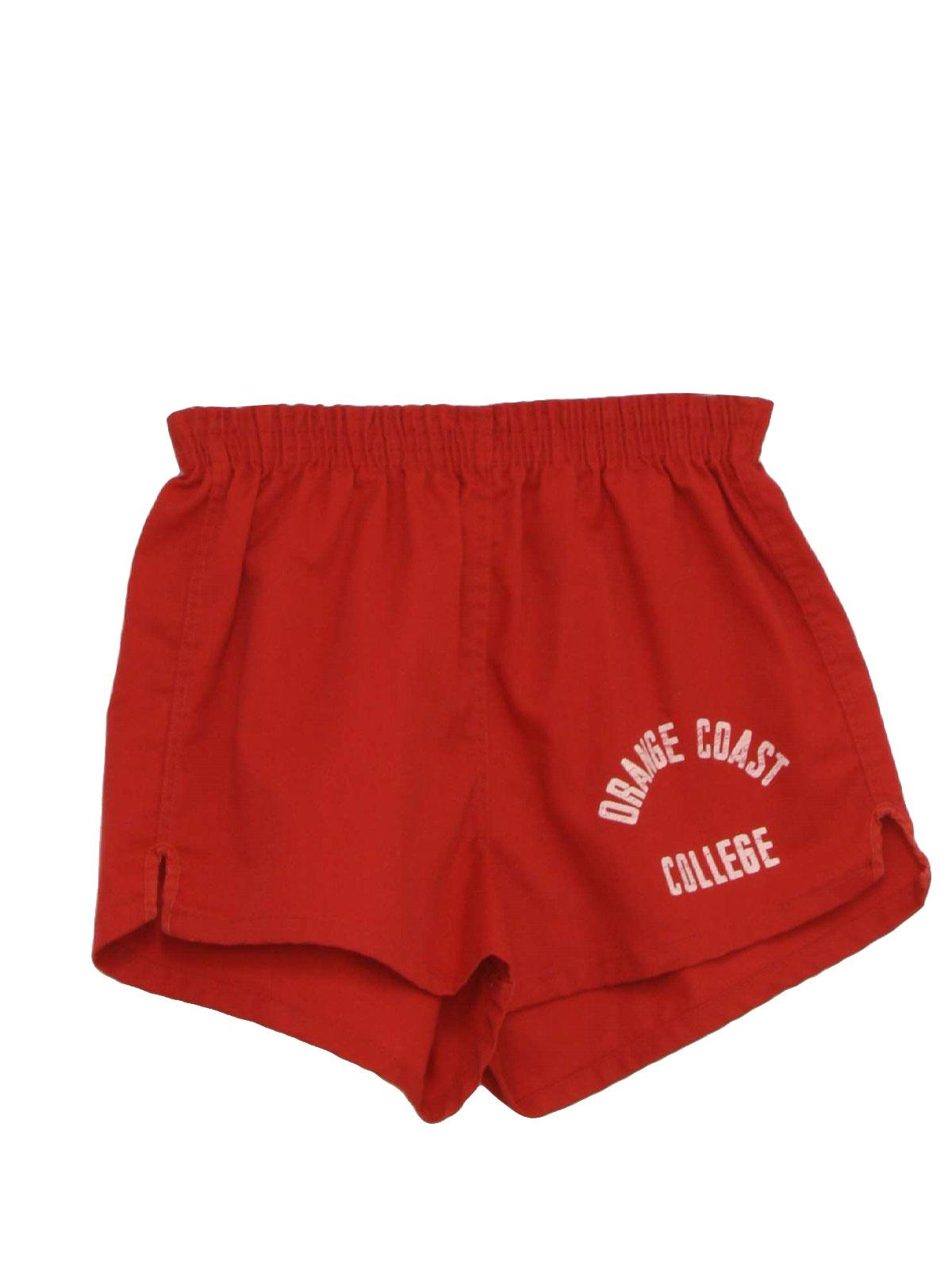 70's Collegiate Shorts: 70s -Collegiate-Pacific- Unisex red cotton ...
