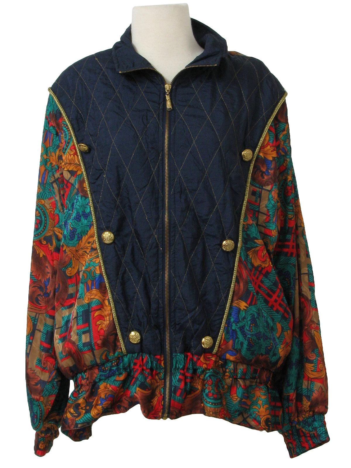 80s Vintage Jacket Late80s Lavon Womens dark blue