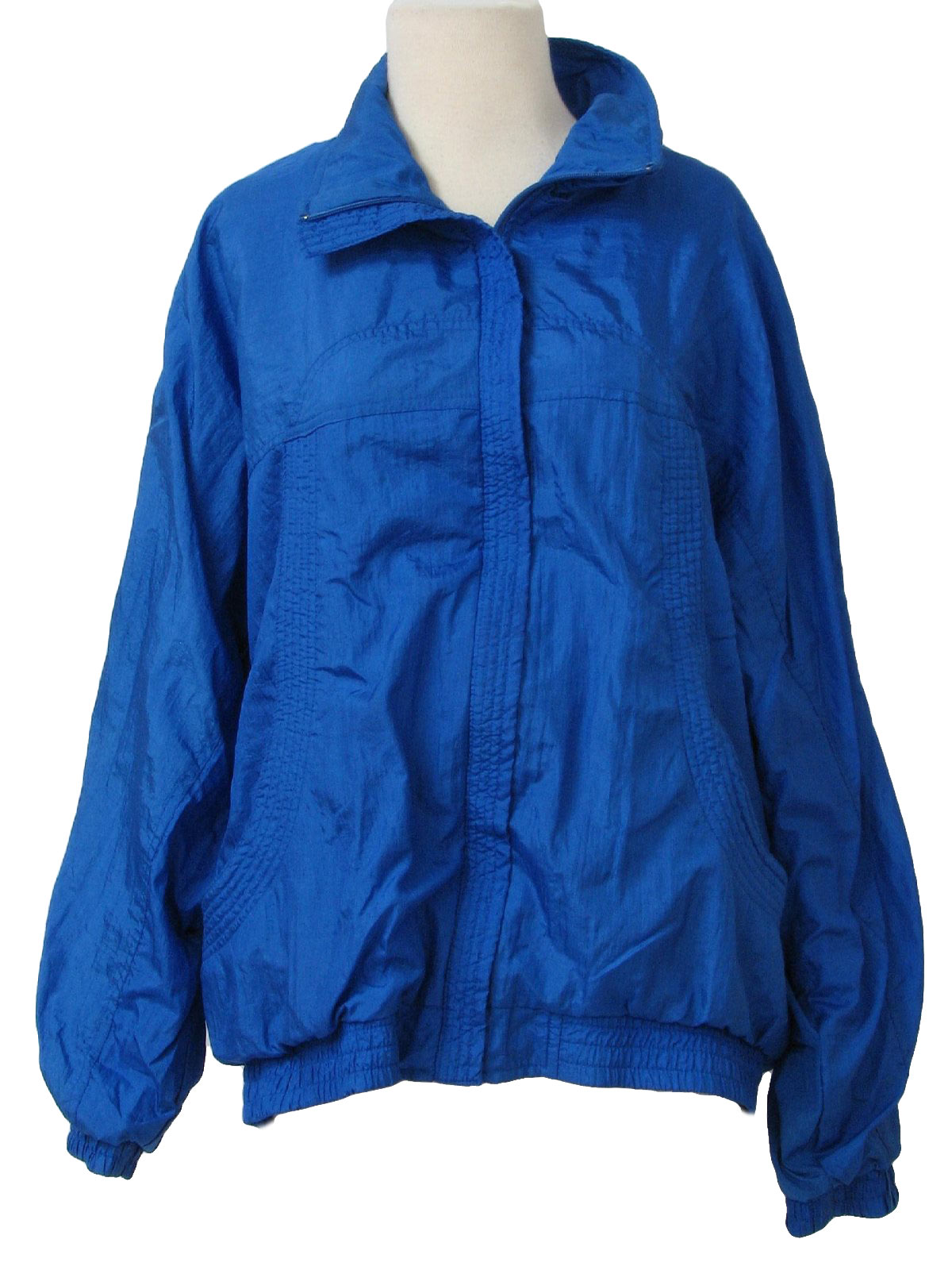 Bocoo Eighties Vintage Jacket: 80s -Bocoo- Womens blue polyester ...