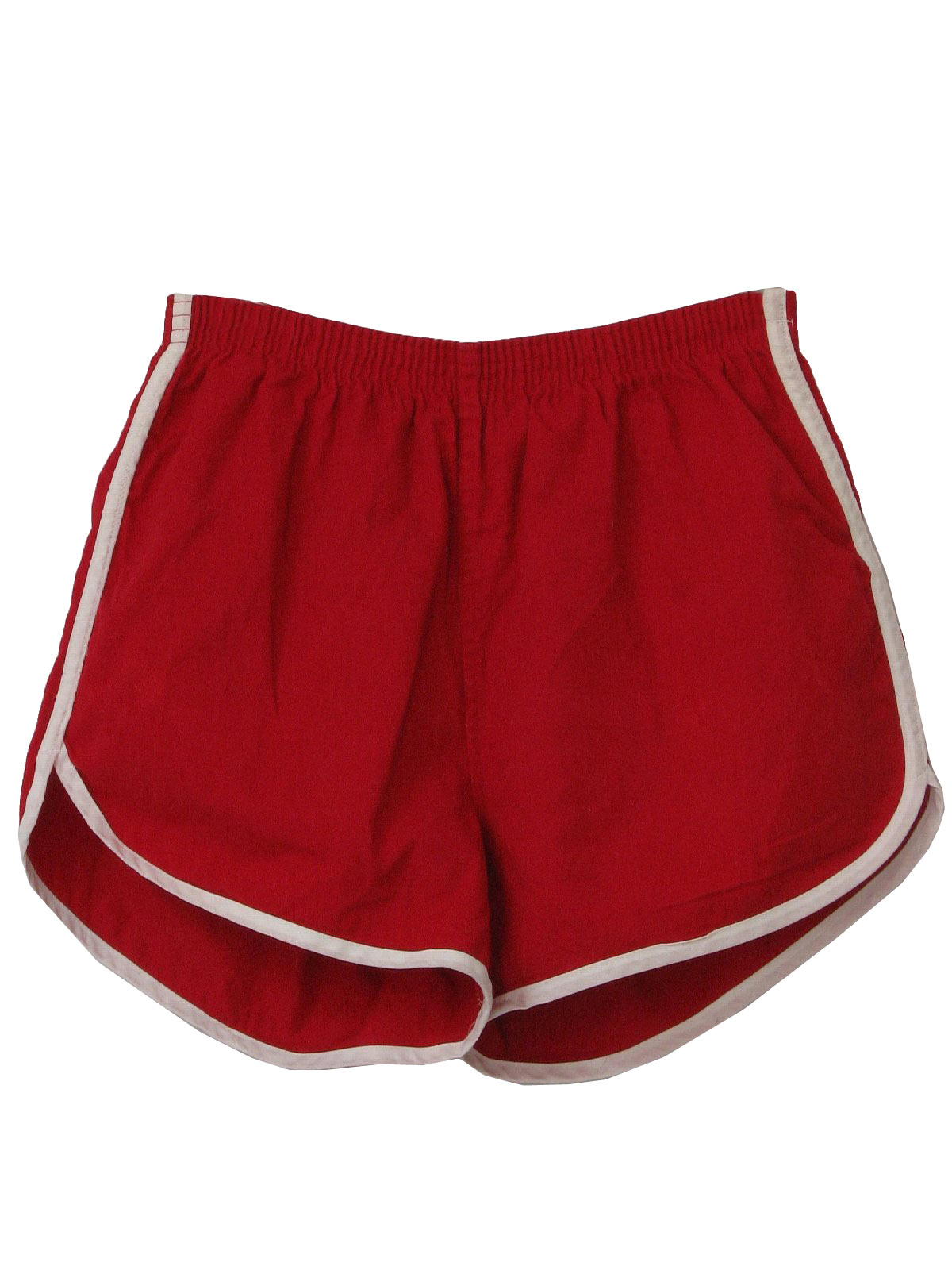 Retro 80 S Shorts 80s Abco Mens Red And White Side Seam