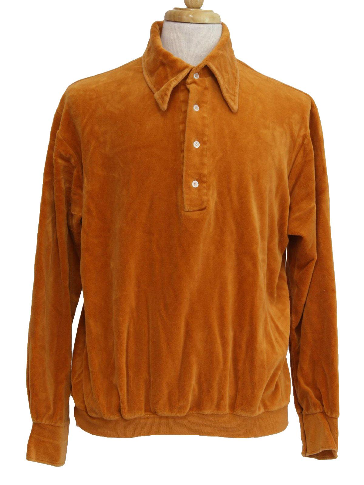 Mens Vintage Short Sleeve Knit Shirts at