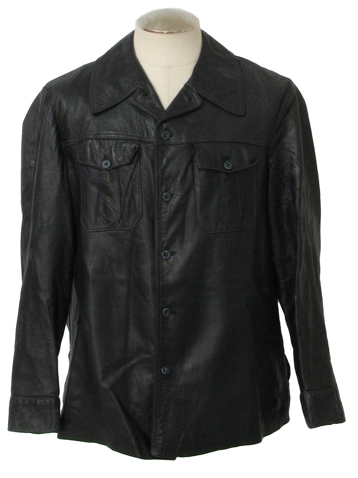 70s leather jacket