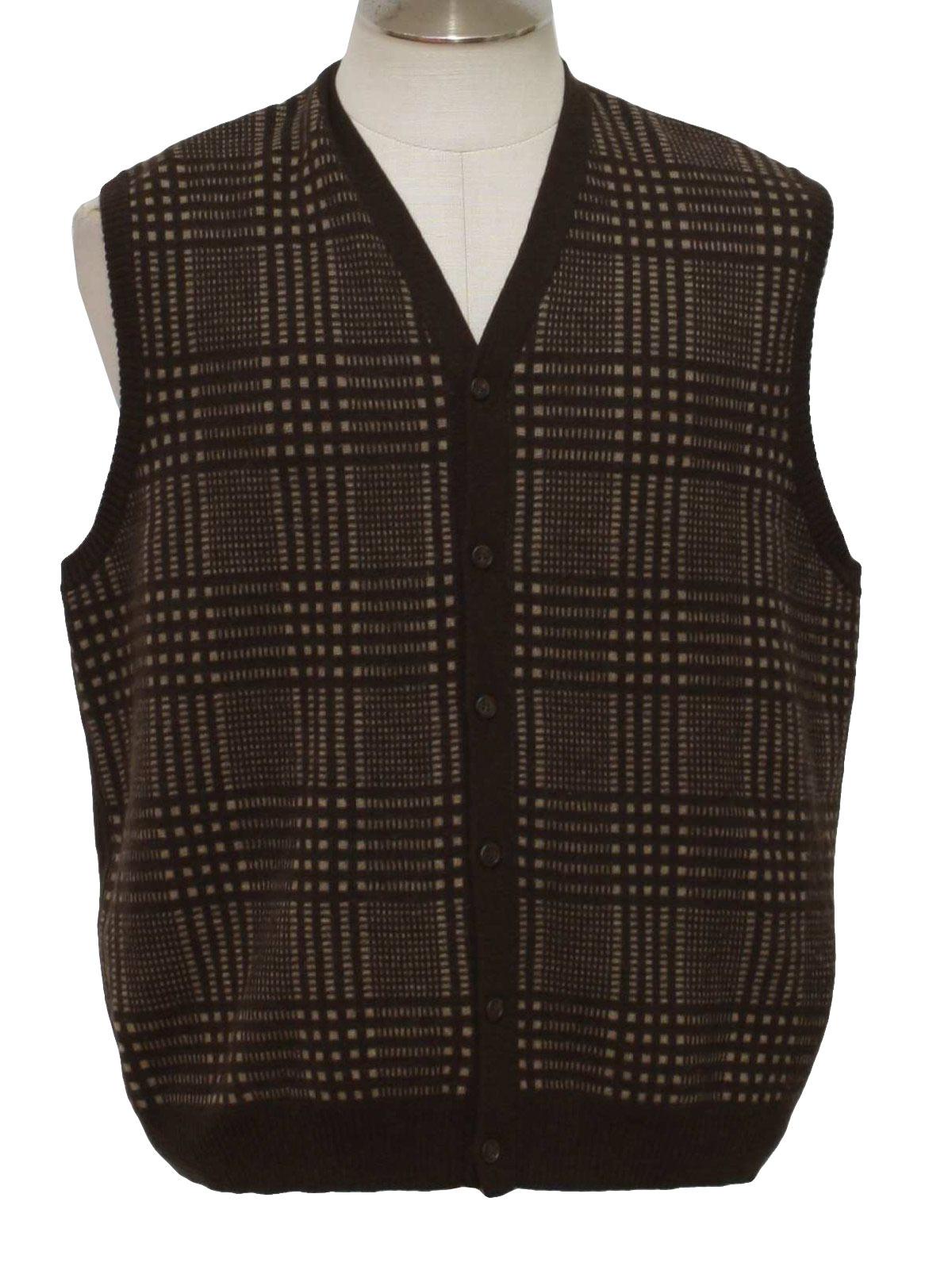 Vintage Pendleton 90's Sweater: 90s -Pendleton- Mens brown and tan ...