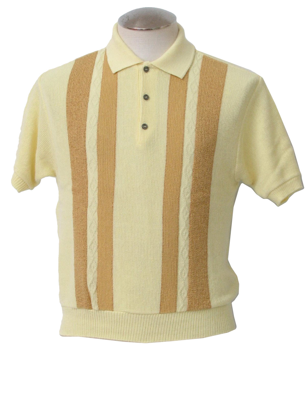 3a73b4f6 Vintage Sears 60's Knit Shirt: 60s -Sears- Mens soft yellow and ...