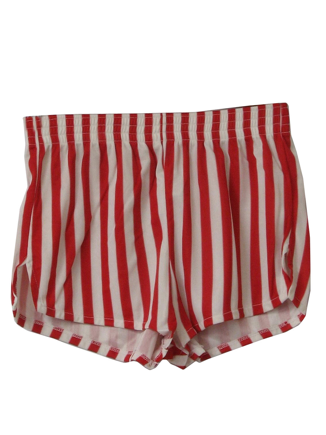 Vintage 80s Shorts: 80s -Care Label- Mens red and white vertical ...