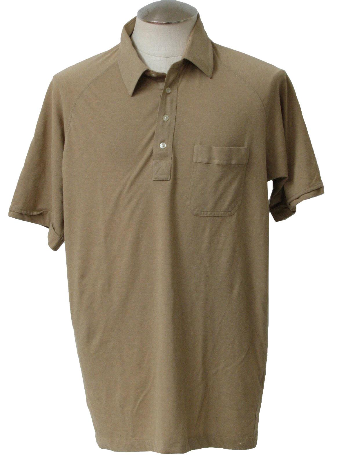 1990 39 S Shirt Arrow 90s Arrow Mens Tan Polyester And