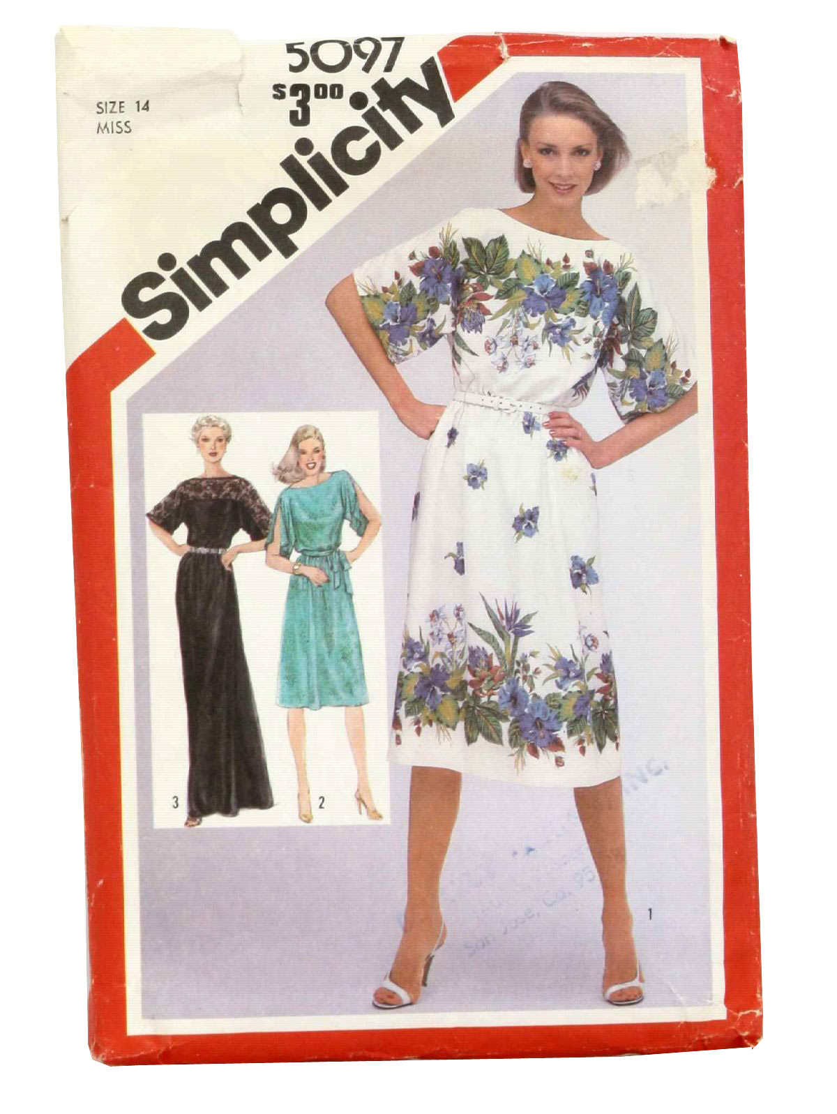 Vintage Simplicity No 5097 80 S Sewing Pattern 80s