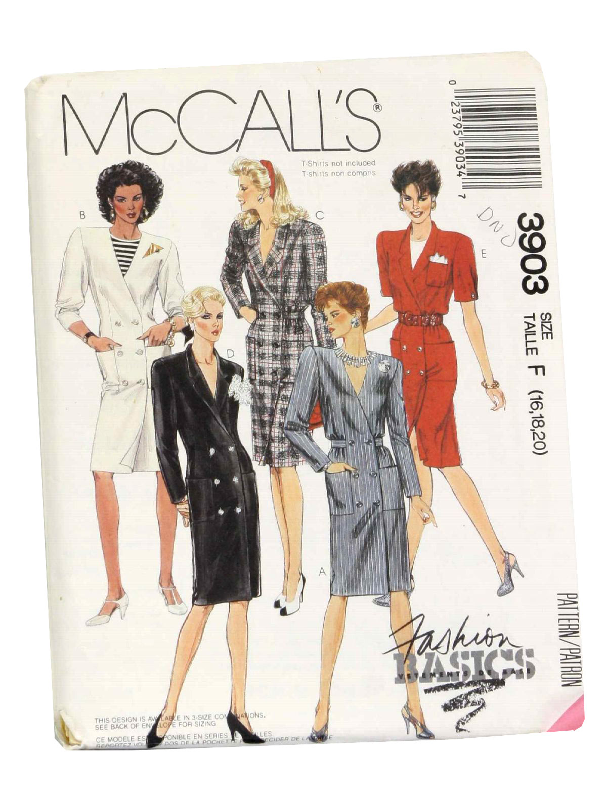 36d882adaf Vintage McCalls No. 3903 1980s Sewing Pattern  80s -McCalls No. 3903 ...