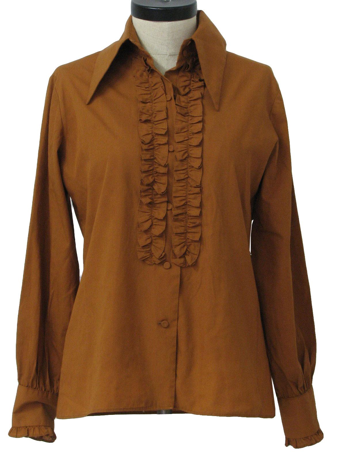 Old Salem 70 S Vintage Shirt 70s Old Salem Womens Brown